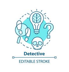 Detective literature concept icon crime fiction vector
