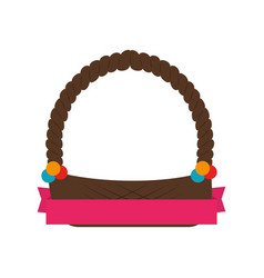 empty easter basket vector image