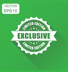 Exclusive rubber stamp icon business concept vector