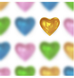 festive background with glossy colored heart vector image