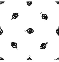 fish pattern seamless black vector image