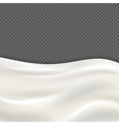 Fresh milk wave isolated on transparent checkered vector