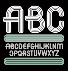 Funky capital alphabet letters collection best vector