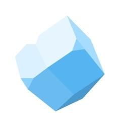 gemstone diamond colorful stone isolated on white vector image