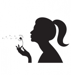 girl with dandelion vector image