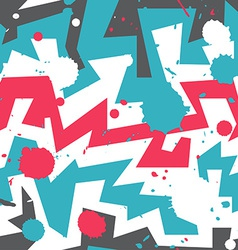 graffiti stripes with blob effect vector image vector image