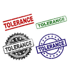 Grunge textured tolerance seal stamps vector