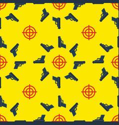 gun targets seamless pattern vector image
