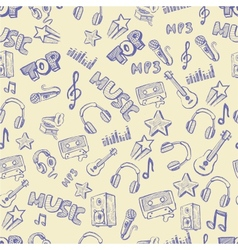 hand drawn music vector image
