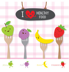 Healthy food fruit diet eat useful vitamin cartoon vector