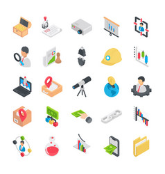 Icons pack of flat business elements vector