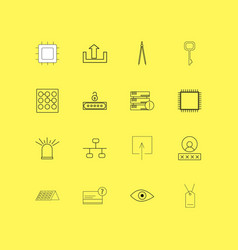 Internet technologies linear icon set simple vector