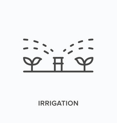 Irrigation flat line icon outline vector