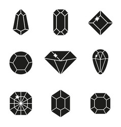 jewels or precious diamonds gem set vector image