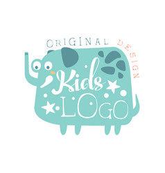 Kids logo original design baby shop label vector