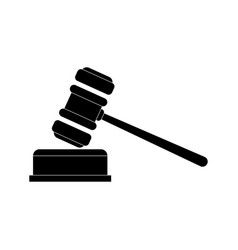 Lawyer gavel law firm icons vector