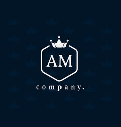 Letter am luxury royal style monogram template vector