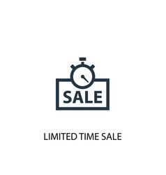 Limited time sale icon simple element vector