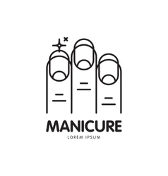 Line logo for manicure salon vector