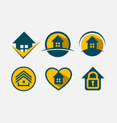 Logo set real estate vector