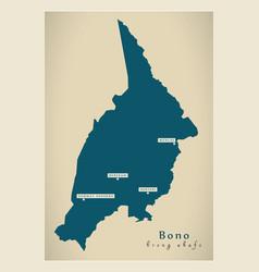Modern map - bono region map ghana gh vector