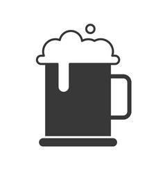 mug of beer and foam food and beverage set glyph vector image