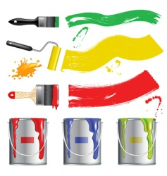 paint tool collection vector image
