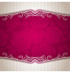 pink valentine background with many roses vector image