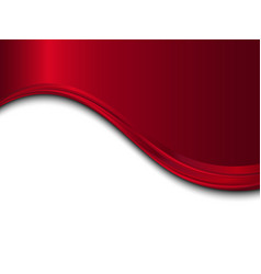 Red and white metal background with wave vector