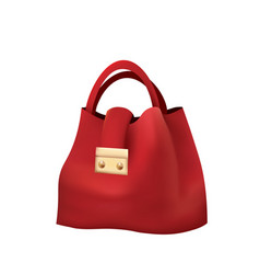 red hand bag vector image
