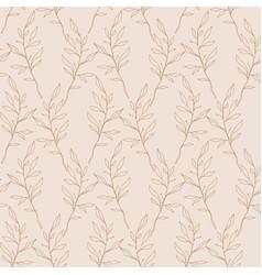 Retro 60s 70s foliage seamless pattern vector