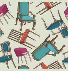 seamless pattern with armchairs vector image