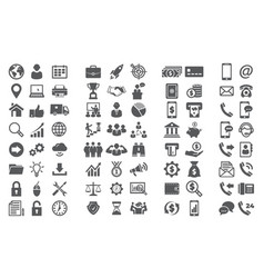 set icons icons for business finance and vector image