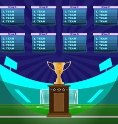Soccer Stadium Championship vector image