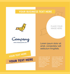 sparrow company brochure template busienss vector image