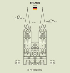 st peters cathedral in bremen vector image