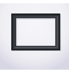 Stylish black photoframe vector image