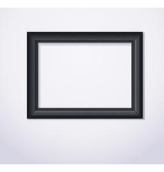 Stylish black photoframe vector
