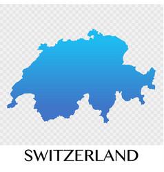 Switzerland in europe continent design vector