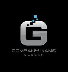 Techno letter g vector