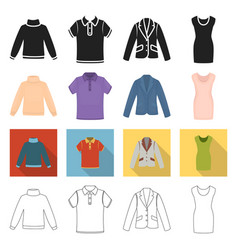 Textiles knitwear fabrics and other web icon in vector