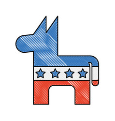 Usa donkey symbol icon vector