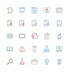 User Interface Colored Line Icons 30 vector image