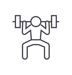 weight lifting man linear icon sign symbol vector image vector image
