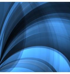 Blue twist lines vector image