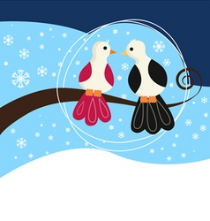 couple birds vector image vector image