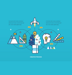 creative process of thinking ideas inspiration vector image vector image