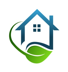 Eco house green vector image