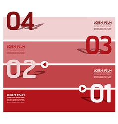 Modern Design template number banners vector image