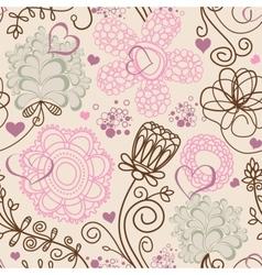 Retro romantic seamless pattern vector image